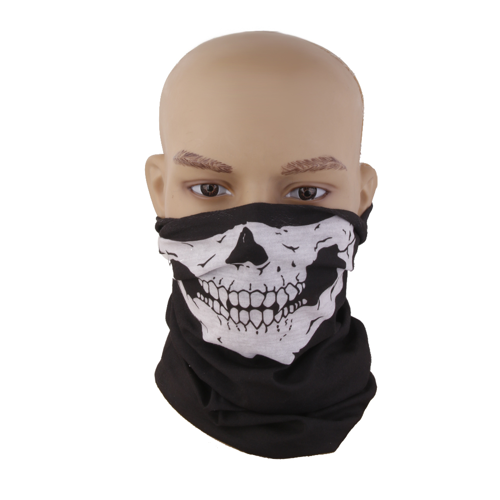 Skull Face Mask Scarf Skeleton Snood Neck Bandana Motorcycle Bike Balaclava