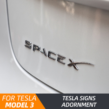 Model3 car tail letter label ABS For Tesla Model 3 accessories tail sticker 2018