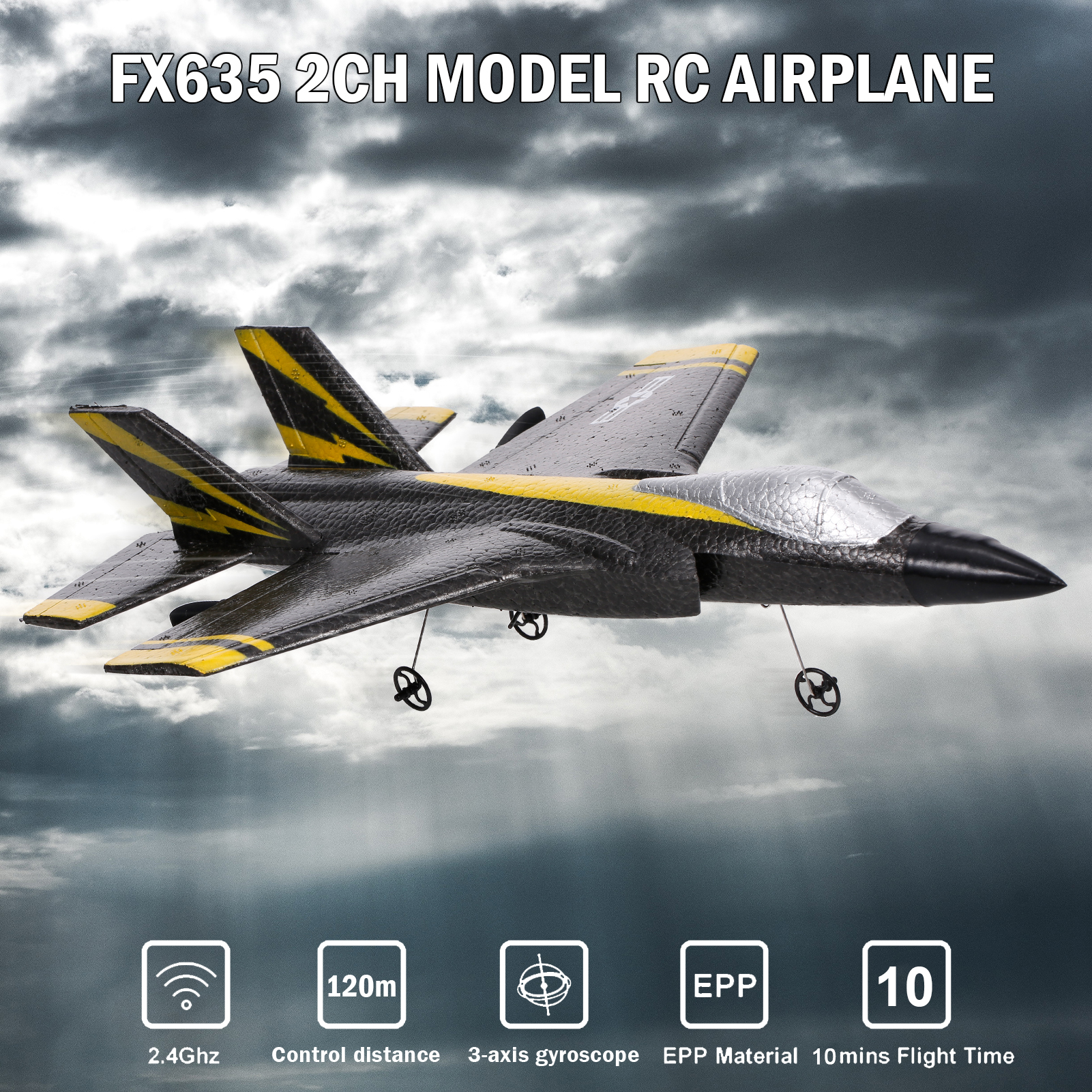 FX635 RC Airplane RC Plane RC Aircraft 2.4Ghz Remote Control Foam Glider RC Glider Plane Fixed Wing Airplane Toys for Kids Adult