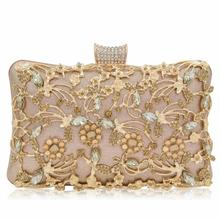 Evening Clutch Bag Party Wedding Crystal Purse Crossbody Luxury Rhinestone Chain Shoulder Bags  for Women