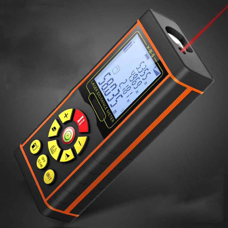 Voice Broadcast Laser Range Finder 40M 60M 80M 100M Tape Built Measuring Device Test Tool