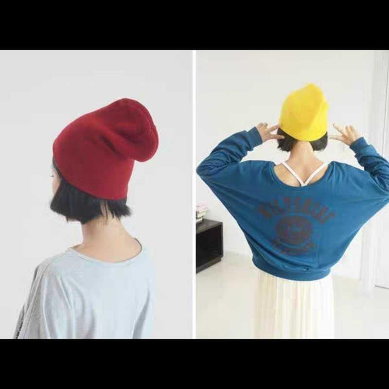 Chapéus de inverno para homens mulher nova beanies malha sólida bonito chapéu meninas outono feminino gorro bonnet mais quente senhoras casual boné