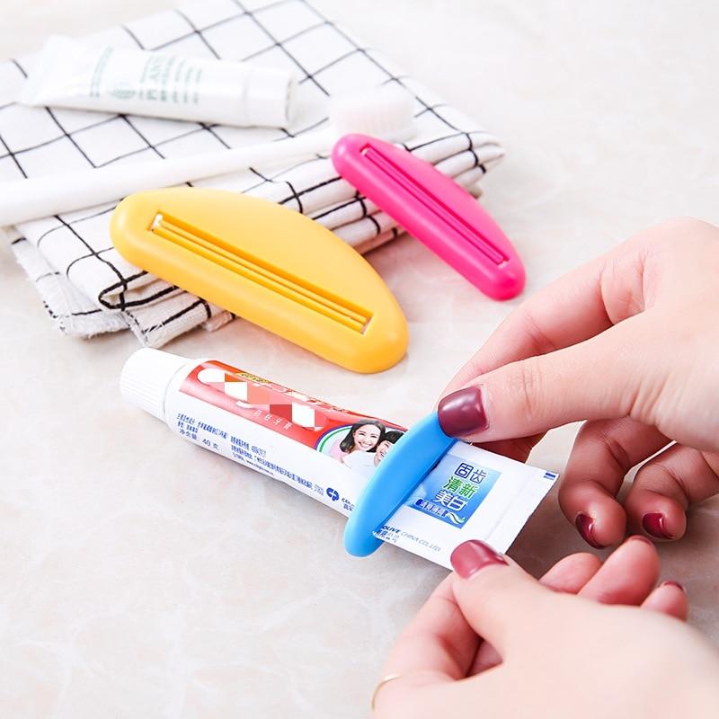 1/3/5Pcs Bathroom Tube Toothpaste Dispenser Toothpaste Cream Squeezer Plastic Home Tube Rolling Holder Squeezers Random Color