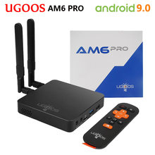 UGOOS AM6 PRO Amlogic S922X Android 9,0 Dispositivo de Tv inteligente DDR4 4GB32GB 5G Wifi BT5.0 1000M Set Top Box 4k reproductor de medios del AM6 Plus(China)