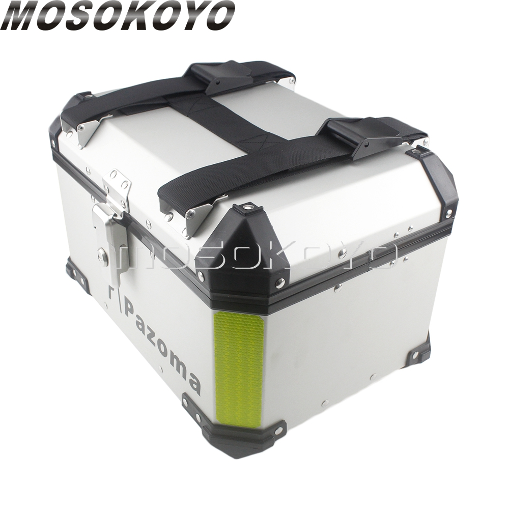 Image 5 - Universal 36L Motorcycle Sidecases Pannier Box w/ Rack + 45L Cargo Storage Top Case For BMW Yamaha Suzuki Honda NC700X NC750XCovers & Ornamental Mouldings   -