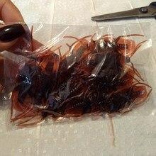 Um pacote 12 pçs real toque barata halloween novidade insetos nojentos baratas falso borracha engraçado crianças presente alegria assustador spoof brinquedo