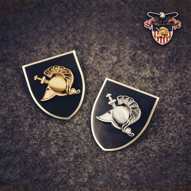 United States Military Academy Athena Shield with bar brooch