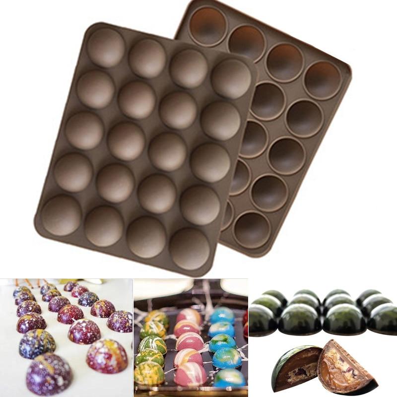 20-Half Ball Cake Mold Non-Stick Silicone Chocolate Mould Mini Truffle Dessert Mold Cake Tools #km58