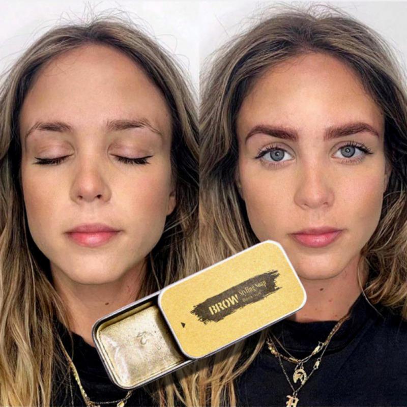 Wild Eyebrow Shaping Soap Long-lasting Waterproof Eyebrow Shaping Gel Wax Eyelash Re-Growth Wax Hot