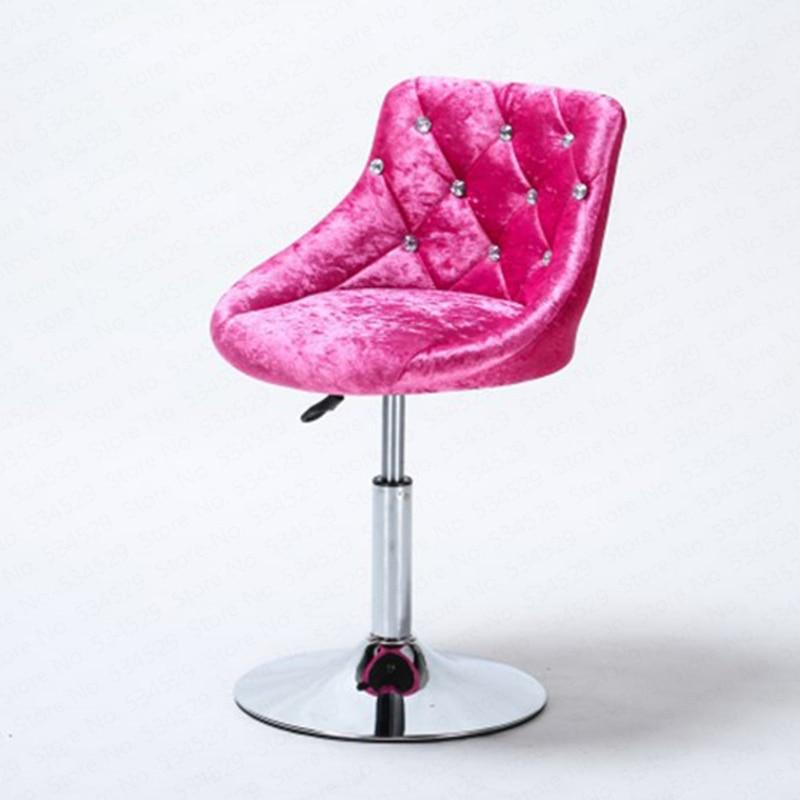 30%B Bar Stool Modern Minimalist Bar Chair Lift Rotating Backrest Chair Home High Stool Bar Nails Stool
