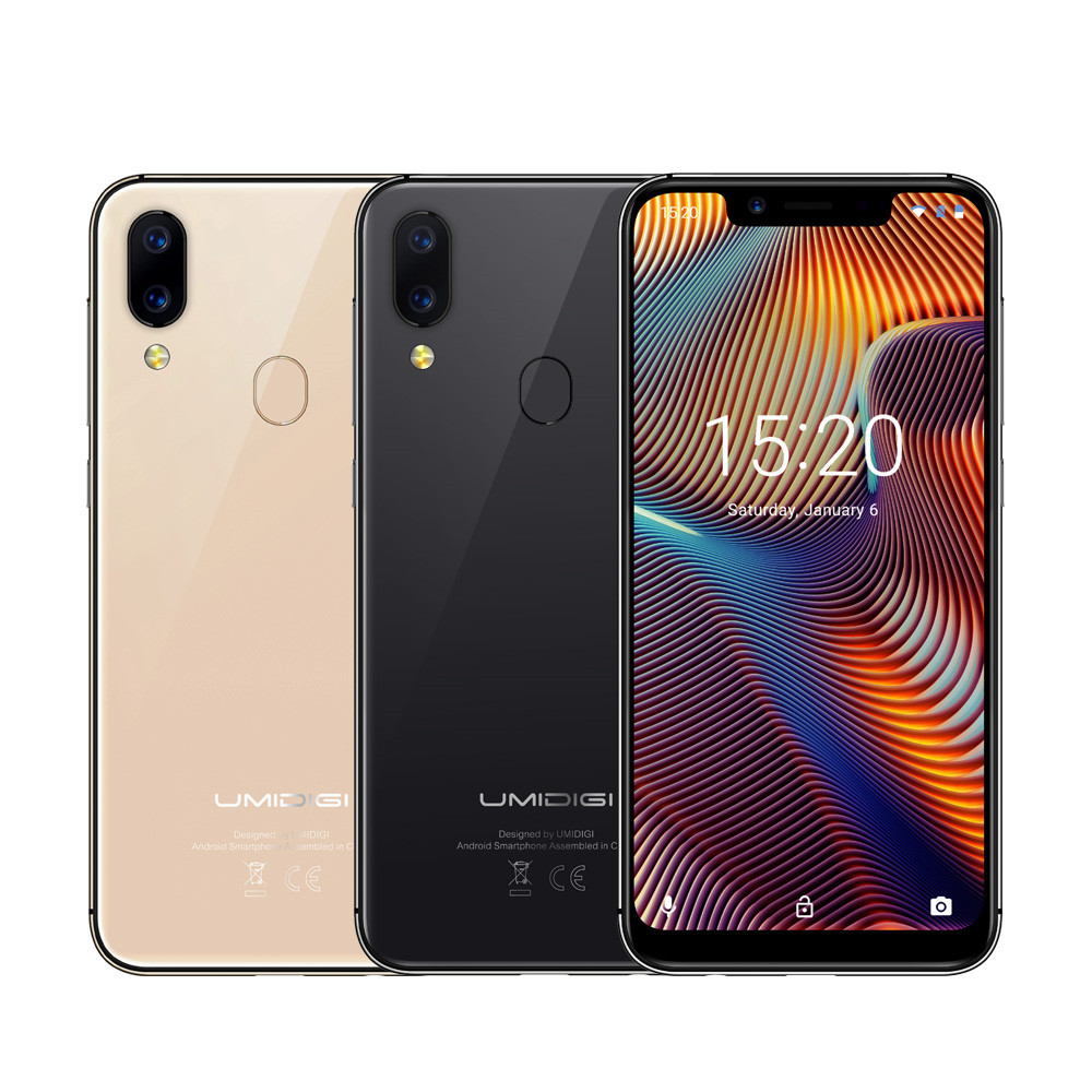 UMIDIGI A3 Pro Smartphone 3GB RAM 32GB ROM Global Band 5.7'' 19:9 Full Screen Android 8.1 MT6739 12MP Dual 4G LTE Mobile Phone