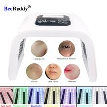BeeRuddy מתקפל ספקטרומטר טיפול עור התחדשות פוטון מכשיר אקנה Remover נגד קמטים Led אור פנים מסכה
