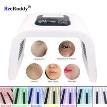 BeeRuddy للطي مطياف العلاج الجلد تجديد الفوتون جهاز حب الشباب مزيل المضادة للتجاعيد مصباح ليد قناع الوجه