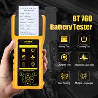 Probador de batería de coche AUTOOL BT760 12V 24V 10-200cca Analizador de batería de coche diagnóstico de carga rápida con impresora térmica