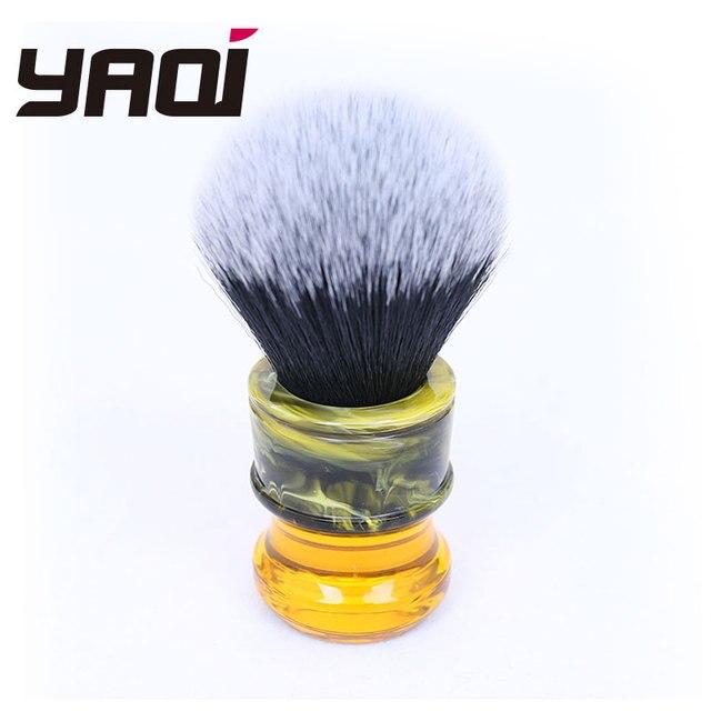 Yaqi 24MM Sagrada Familia Đen/Trắng Tuxedo Tổng Hợp Sợi Nhựa Tay Cầm Nam Ướt Cạo Lông Bàn Chải