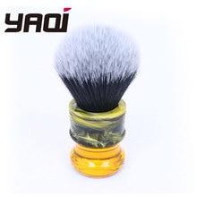 Yaqi pincel de barbear masculino de fibra sintética, pincéis de barbear preto/branco, 24mm