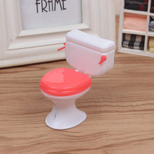 1PCs Mini Dollhouse Furniture Vintage Bathroom Modeling White Toilet Doll House Miniature Baby Pretend Toys Dolls Accessories(China)
