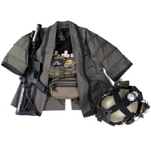 Outdoor Tactical Hunting Coat Training Cloak Combat Haori Jacket for Airsoft