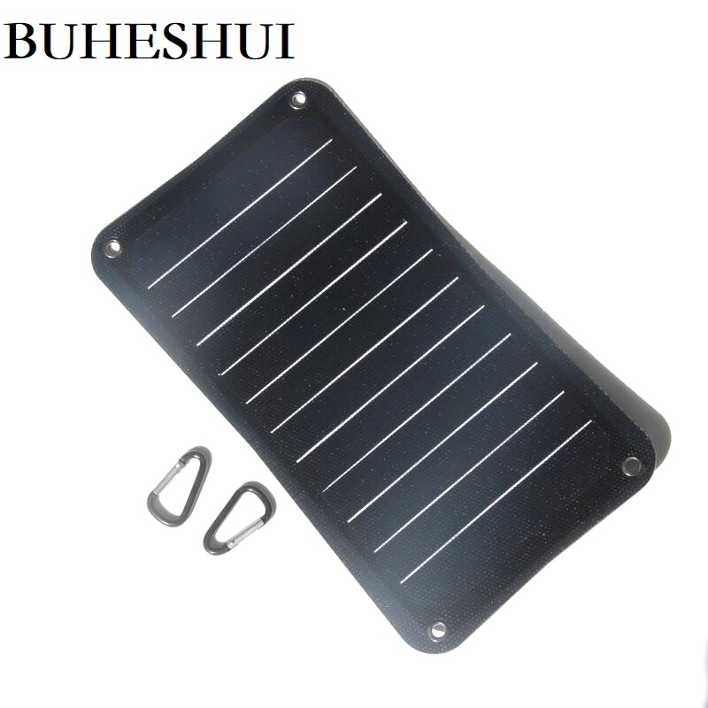 BUHESHUI 10W Semi-flexible Sunpower ETFE Solar Panel Chargr For Mobile Phone/Power Bank Solar Battery Charger Outdoor travel image