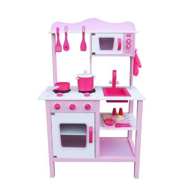 En bois enfants cuisine jouets semblant jouer enfants jeu de rôle éducatif jouet ensemble cuisine outils Kit filles anniversaire noël cadeaux