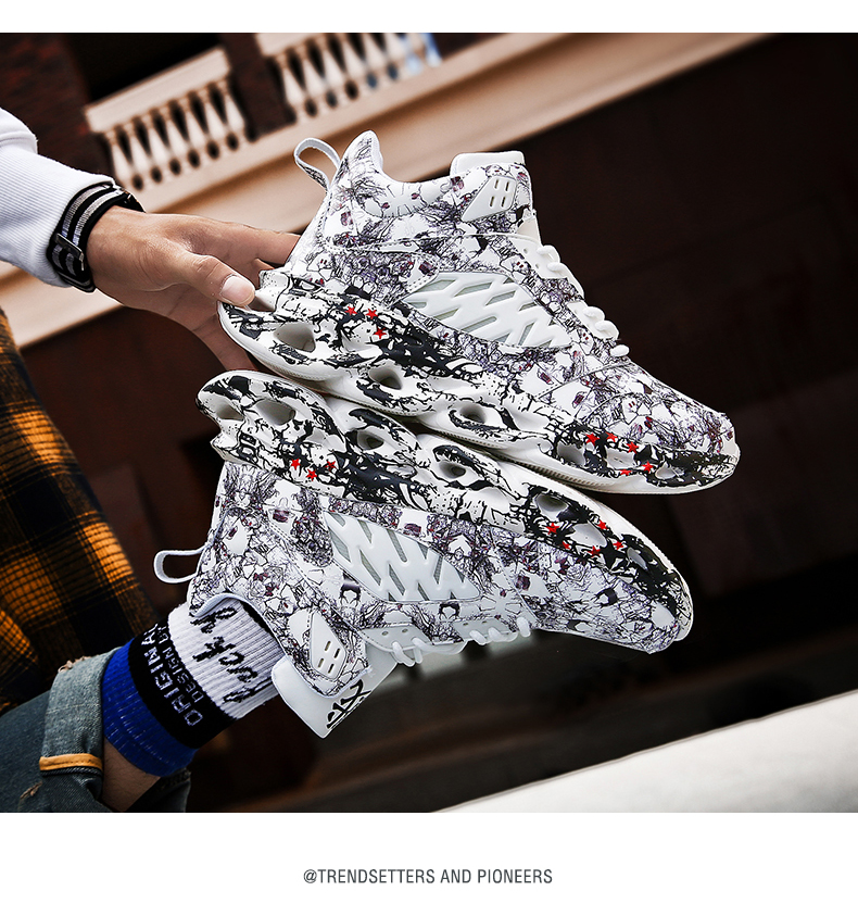 H018b5cce626d49659dbaf4104a35dd69j Fashion Men's Hip Hop Street Dance Shoes Graffiti High Top Chunky Sneakers Autumn Summer Casual Mesh Shoes Boys Zapatos Hombre