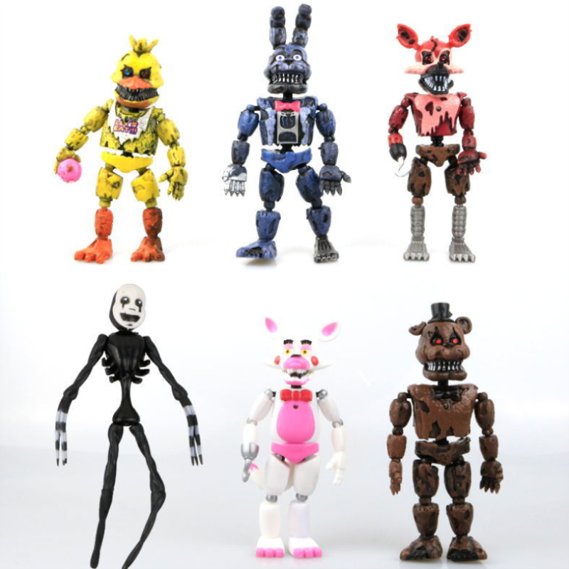 Five Night At Freddy's Figure Toy Bonnie Foxy Model Kits Freddy Action Game PVC Figure Doll For Children Kid Birthday Gift