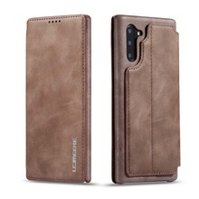 Flip Case Leather Luxury Wallet Business Vintage Book Design Cover For Samsung Galaxy Note10 Note10plus Note10pro KS0301