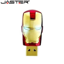 JASTER Ironman USB-Stick 4GB 8GB 16GB 32GB USB 2.0 Flash Memory Stick Usb-Stick Metall Stift stick Blau LED Licht(China)