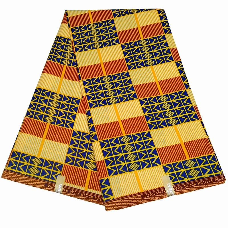 6 Yard African Real Wax Prints Fabric 100% Cotton Nigerian Women Dress Fabrics For Wedding Home Textiles Materials Z603