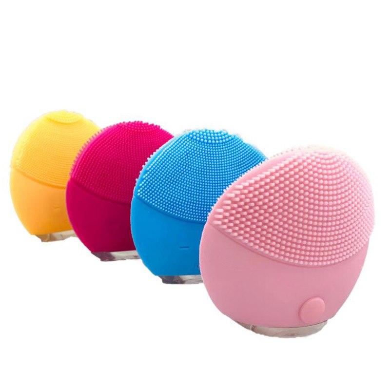 mini eletrica escova de limpeza facial massageador para lavagem rosto limpador maquina limpeza profunda silicone dispositivo