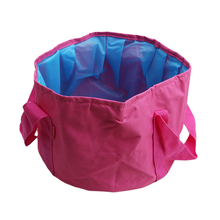 Collapsible Portable Travel Foldable Folding Camping Washbasin Basin Bucket Bowl Sink Washing Bag Water Bucket Home Tool