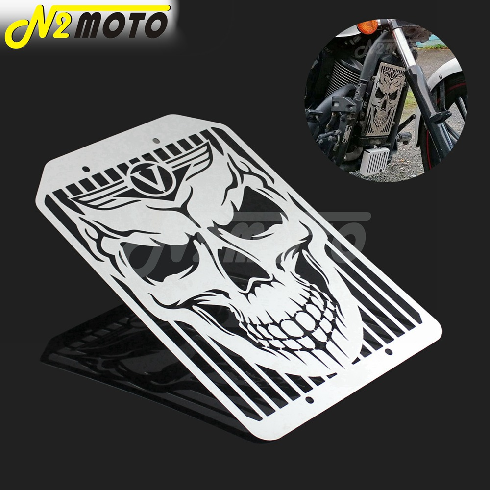 Skull Skeleton Motorcycle Radiator Grill Mesh Water Cooler Cover Guard for Kawasaki <font><b>VN1500</b></font> VN 1700 Vulcan Classic 1500 1700 image