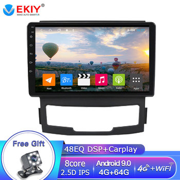 EKIY 9 IPS Navigation GPS Multimedia Video Player Stereo Headunit For SsangYong Korando Actyon 2011 2012 2013 WIFI/4G Carplay image