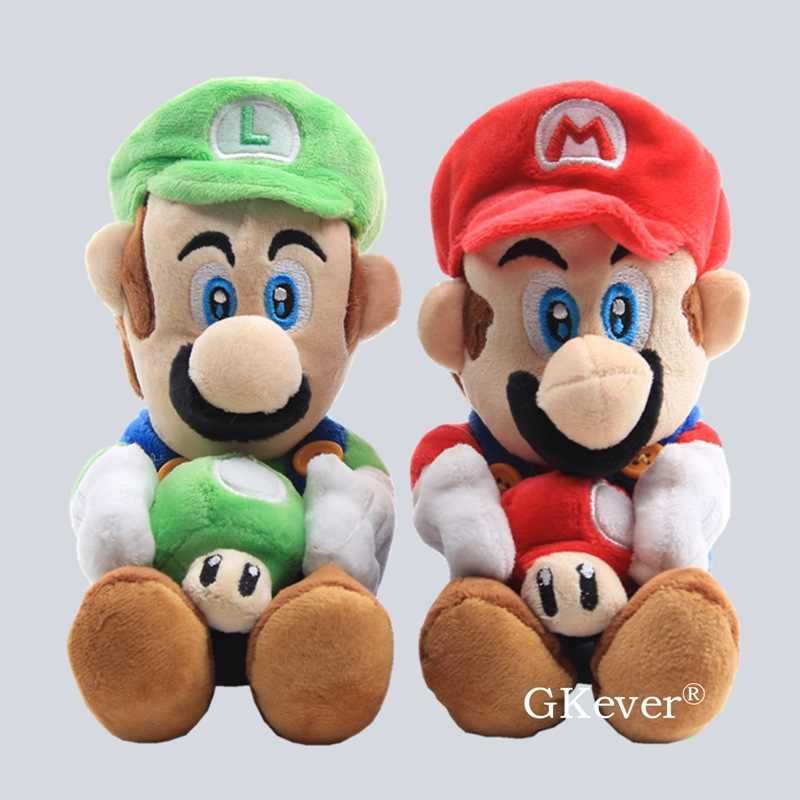 17cm Mario Series Figure Plush Toy Doll Kawaii Mario Luigi With