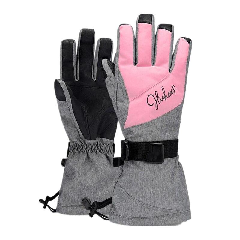 Ski Gloves For Women Waterproof Mittens Winter Women's Gloves Thermal Gloves Female Snowboard Gloves Snowboarding -30 Degree