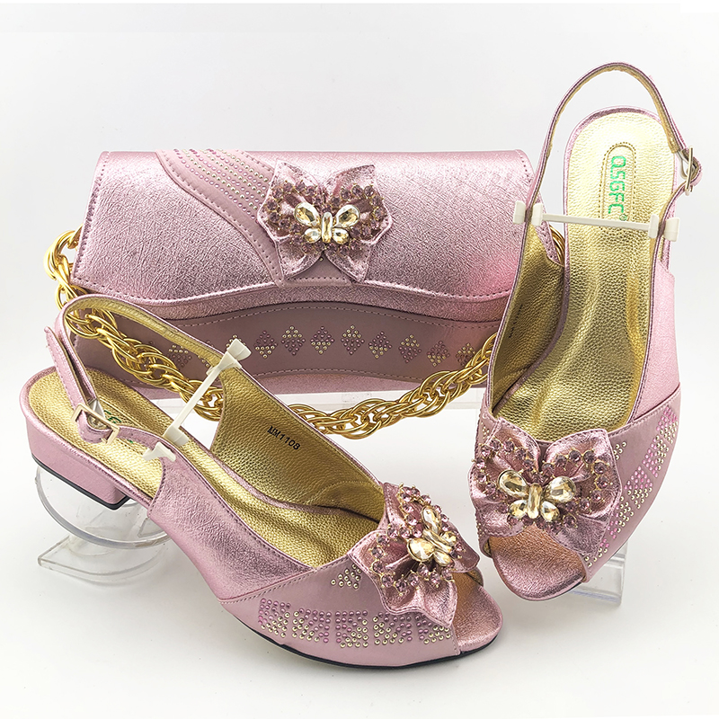 Lovely baby pink italian shoes and bag