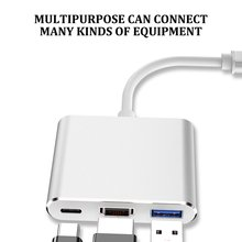 Rovtop Usb C HDMI USBC to HDMI 3.1 Converter Adapter Type C to DMI/USB 3.0/Type C Adapter Type-C Aluminum For Apple Macbook