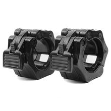 Olympic Size Barbell Collar Locks 1 inch Bar Clamp Crossfit Weight Lifting Quick Release Lock Jaw, Pair