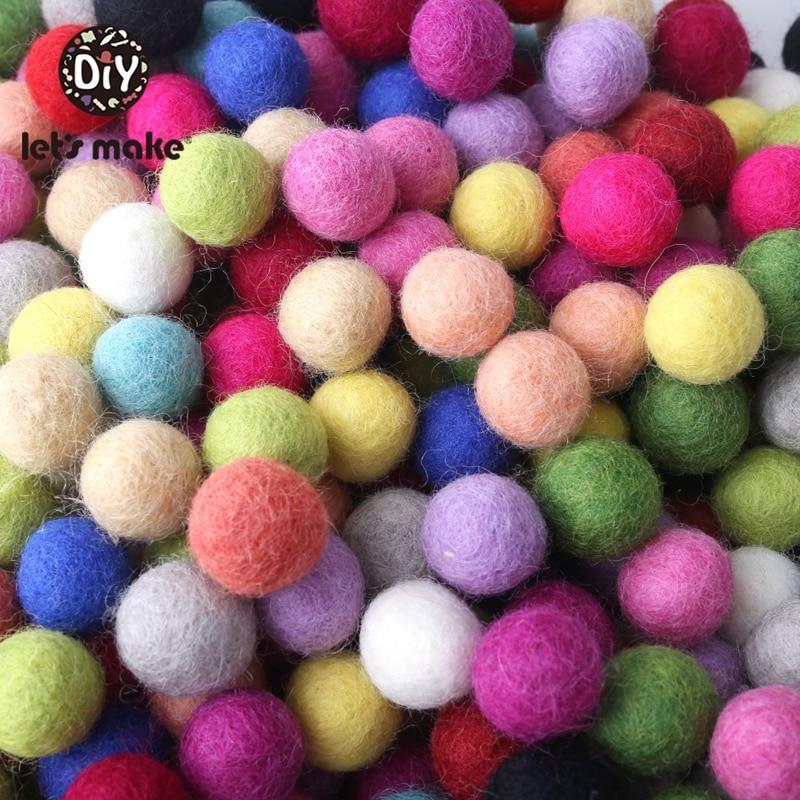 10PC Pom Pom 2 cm Wool Beads Supplies Felt Balls Nursery Christmas Douquet