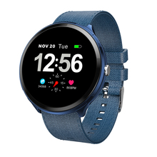 NEW 2019 Smart Watch Canvas strap Men 1.3 Inch businese Smartwatch Heart Rate Monitor Blood Pressure Watch for IOS Andriod цена и фото