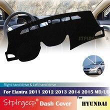 Funda protectora antideslizante para salpicadero, accesorio para coche, Alfombra de sombrilla, para Hyundai Elantra 2011, 2012, 2013, 2014, 2015, MD, UD, Avante