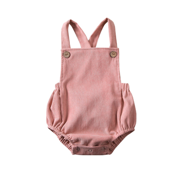 Corduroy Pink Backless Bodysuit