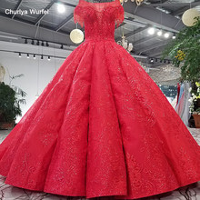 LS65410-1 2018 new design red evening dress cap sleeves tulle back long train formal dress buy direct from china online shop(China)