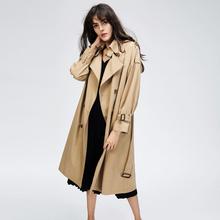 Womens Mid-long Autumn 2019 New Popular Loose British Style Coat