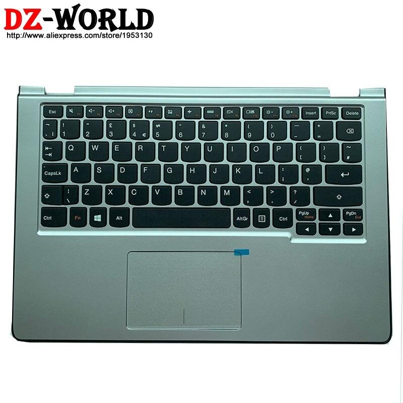 Новый оригинальный серебристый верхний чехол для рук с немецкой клавиатурой для lenovo Yoga 2 11 C 90204977