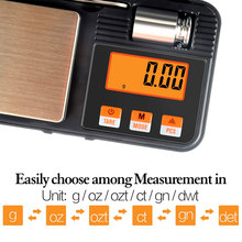 Novel 200g / 0.01g Digital Pocket Scale 50g Calibration Weight with Tweezers Battery Include Shipping