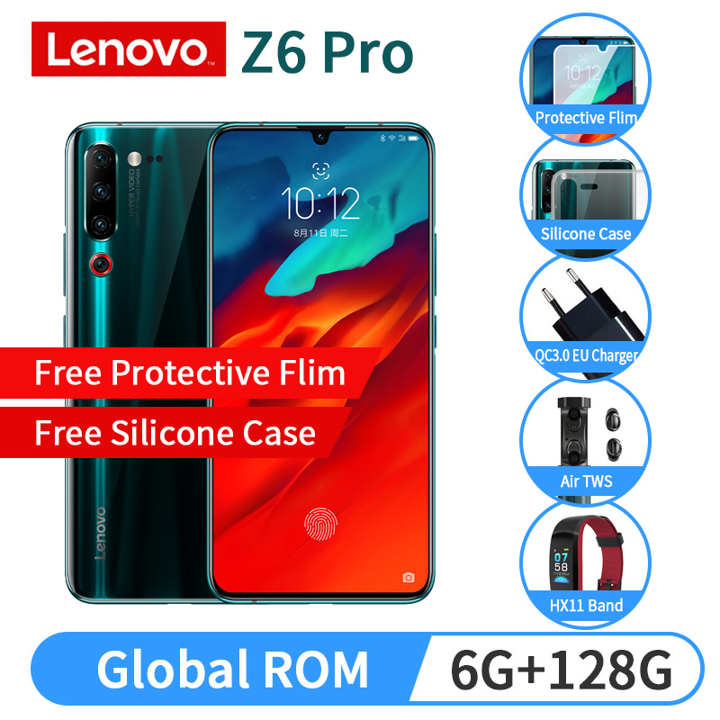Global ROM Lenovo Z6 Pro With Free Gift Snapdragon 855 Octa Core 6GB 128GB 6.39