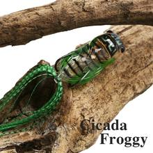 Fishing Lure Cicada Froggy 15.5g 65mm Popper Artificial Soft Baits Topwater Frog Y1QE(China)