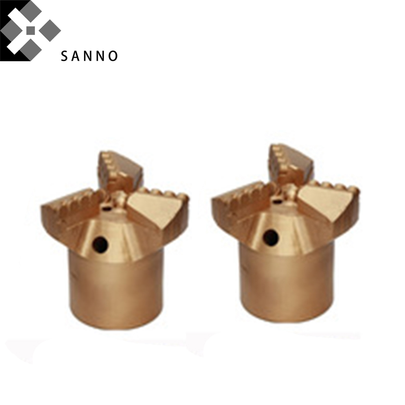 PDC Drill Bit D50mm D75mm D89mm D94mm D113mm D133mm D150mm 3 Wings Rock Drilling Drag Bit Drill Head Archives Borehole Machinery