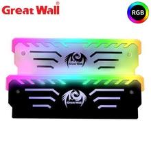 Грейт Волл процессорный кулер РГБ памяти жилет алюминиевый теплоотвод радиатор воздуха 256 автоматический световой эффект охлаждения оперативной памяти DDR3 на DDR4
